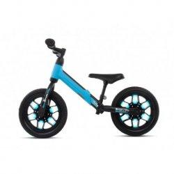 Mėlynas balansinis dviratukas su LED švieselėmis