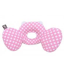 """Stabilizuojanti kūdikio pagalvėlė su ausytėmis """"Taškeliai"""" (rožinė)"""