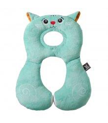 """Kelioninė pagalvėlė """"Mielasis katinėlis"""" (mėtinė)"""