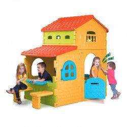 Vaikiška sodo vila su staliuku ir kėdėmis