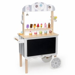 Medinis ledų vežimėlis - krautuvėlė 3in1