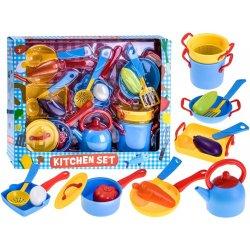 Didelis spalvingas virtuvės puodų rinkinys
