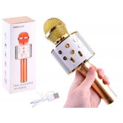 Belaidis aukso spalvos mikrofonas