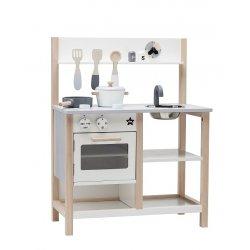 Kids Concept medinė balta virtuvėlė