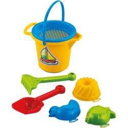 Mini smėlio žaislų kibirėlis su priedais