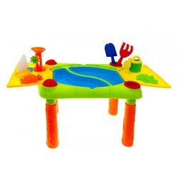 Spalvingas staliukas - smėlio dėžė su formelėmis