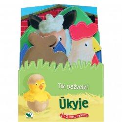 """Edukacinė knygutė vaikams """"Ūkyje"""" 1-2m"""