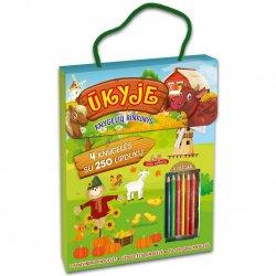 """Vaikiškų užduočių knygelių rinkinys """"Ūkyje"""" su pieštukais"""