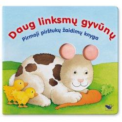 """Pirštų žaidimo knygelė """"Daug linksmų gyvūnų"""""""