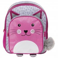 Rožinė kuprinė - katytė su ausytėmis