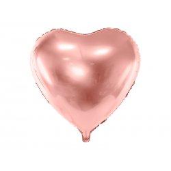 """Rožinio aukso spalvos balionas """"Širdelė"""" 45cm"""