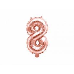"""Rožinio aukso spalvos balionas """"8"""" 35 cm"""
