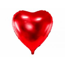 """Raudonas folinis balionas """"Širdelė"""" 72x73 cm"""