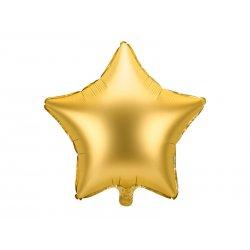 """Aukso spalvos folinis balionas """"Žvaigždė"""" 48 cm"""