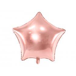 """Didelis rožinio aukso spalvos balionas """"Žvaigždė"""" 70 cm"""