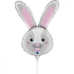 """Folinis balionas """"Kiškučio galva"""" / 35 cm"""
