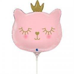 """Rožinis folinis balionas """"Katytė princesė"""" / 35 cm"""