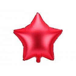 """Raudonas folinis balionas """"Žvaigždė"""" 48cm"""