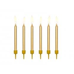 Aukso spalvos gimtadienio žvakutės