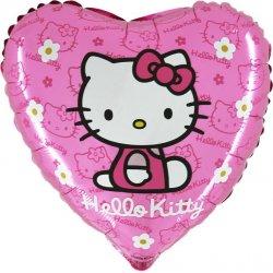 """Rožinis folinis balionas - """"Hello Kitty"""" / 45 cm"""