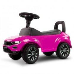 Volkswagen T-Roc rožinė paspiriama mašinėlė