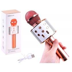 Rožinio aukso spalvos belaidis mikrofonas
