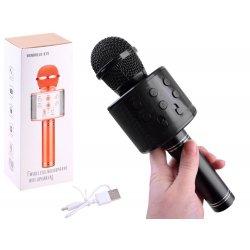 Juodas belaidis mikrofonas