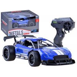 RC mėlynas lenktynių automobilis