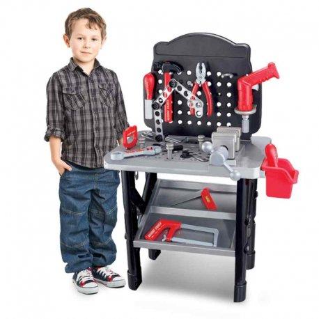 """Vaikiškas darbo stalas su įrankiais """"Meistro dirbtuvės"""""""