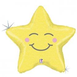 """Geltonas folinis balionas - """"Žvaigždelė"""" / 43x50 cm"""