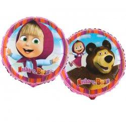 """Dvipusis folinis balionas """"Maša ir lokys"""" / 45 cm"""