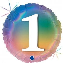 """Apvalus folinis balionas - """"1"""" / 45 cm"""