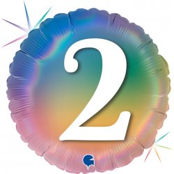 """Folinis balionas - """"Su numeriuku 2"""" / 45 cm"""