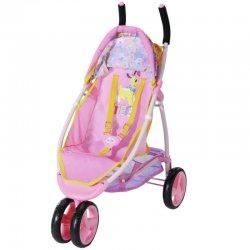 Baby Born rožinės spalvos sportinis vežimėlis