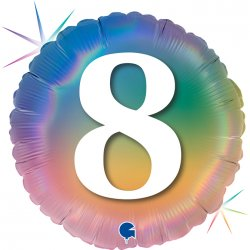 "Apvalios formos balionas - ""Aštuoni"" / 45 cm"