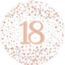 """Holografinis folinis balionas - """"18 gimtadieniui"""" / 45 cm"""