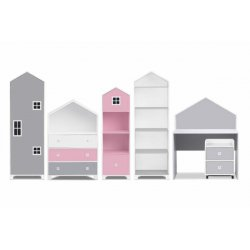 "Rožinis baldų komplektas ""Mirum"" (6 dalys)"