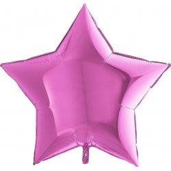 """Rožinis folinis balionas - """"Žvaigždelė"""" / 91 cm"""