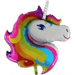 "Folinis balionas ant pagaliuko - ""Unicorn"" / 35 cm"