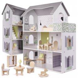 "Lėlių namelis su baldais ""Moderni vila"""