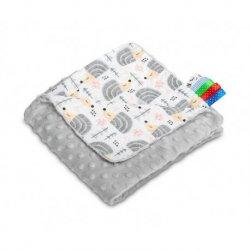 Itin lengva antklodė pilkos spalvos 75x100 cm.