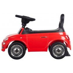 Raudona Fiat 500 paspiriama mašinėlė