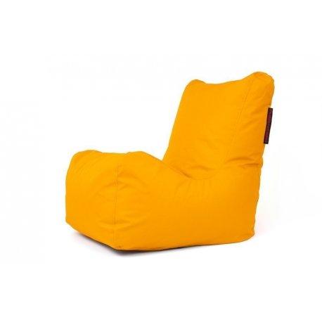 Geltonas sėdmaišis su atlošu
