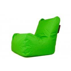 Ryškiai žalias sėdmaišis su atlošu