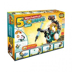 """Mechaninis kodavimo konstruktorius """"Robotas 5in1"""""""
