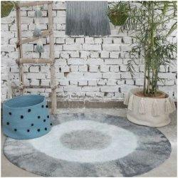 Vintažinis mėlynas vaikiškas kilimas