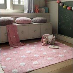 """Rožinis vaikiškas kilimas - """"Taškiukai"""""""