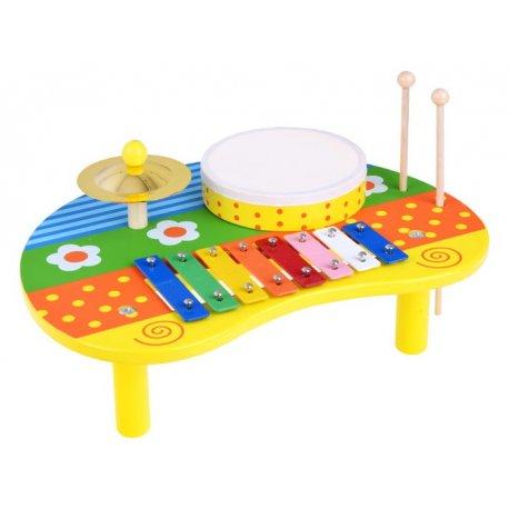 Spalvingas daugiafunkcinis muzikos žaislas