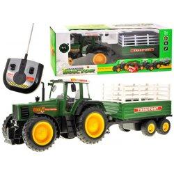 Pulteliu valdomas traktorius su priekaba