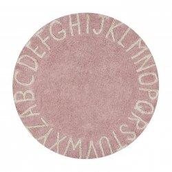 """Rožinis vaikiškas kilimas - """"ABC"""""""